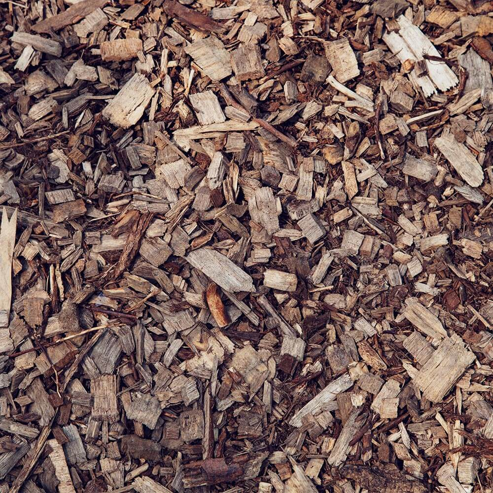 Thousands of wood chips on the floor